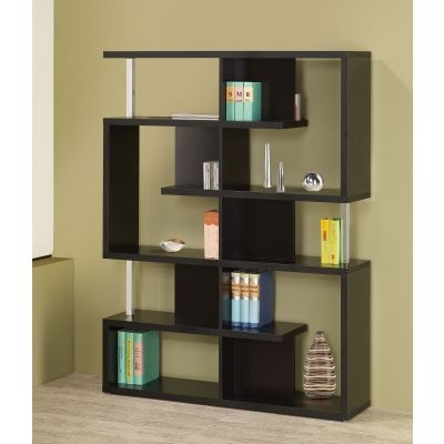 Modern Cube Bookcase in Black - 800309