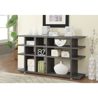 Contemporary Weathered Bookcase in Dark Grey - 800359