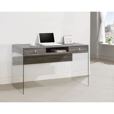 Modern Computer Desk with Glass Sides - 800818
