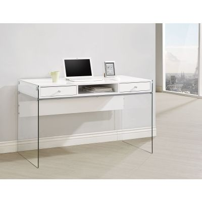 Modern Computer Desk with Glass Sides - 800829
