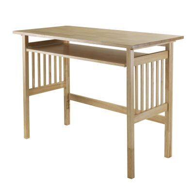 Mission Folding Computer Desk in Natural Beechwood - 81140