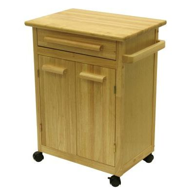 Beechwood Butcher Block Kitchen Cart in Natural Finish - 82027