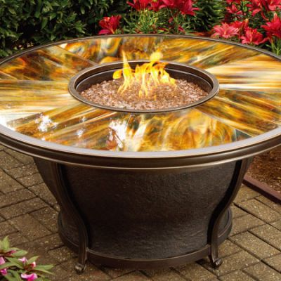 Moonlight Gas Fire Pit Table - 8205-Rd48-GST-AB