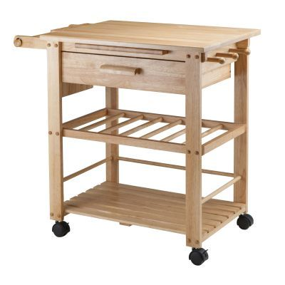 Finland Kitchen Cart with Wooden Top - 83644