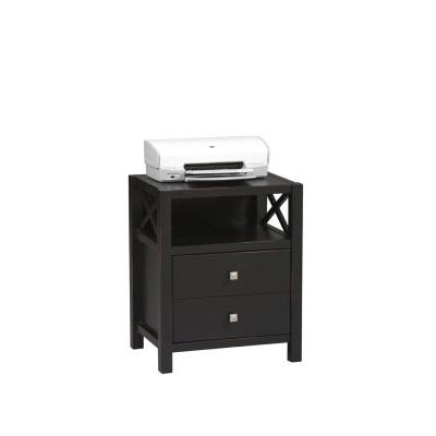Anna Storage End Table in Distressed Antique Black - 86109C124-01-KD-U