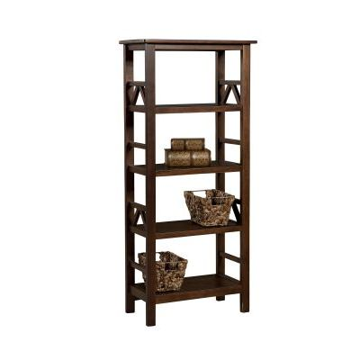 Titian Wall Bookcase in Antique Tobacco - 86150ATOB-01-KD-U