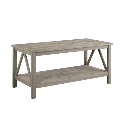 Titian Coffee Table in Rustic Gray - 86151GRY01U