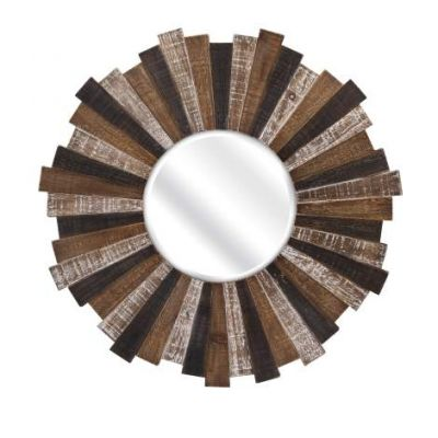Wood Starburst Mirror - 88698