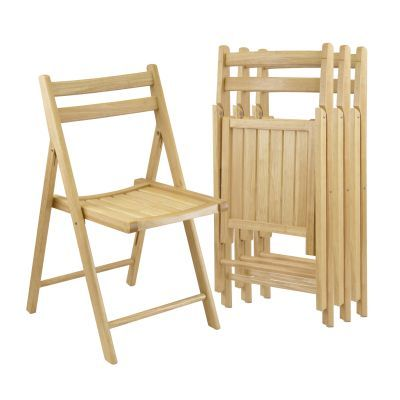 Robin 4 Piece Folding Chair Set in Beech Finish - 89430