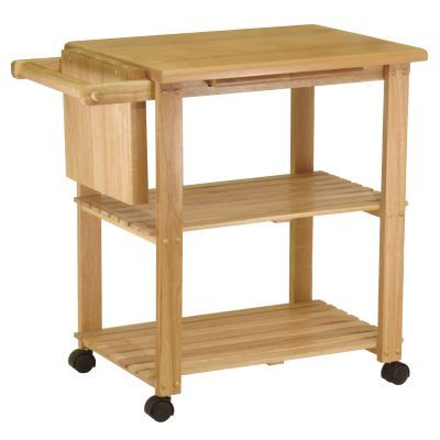 Utility Butcher Block Kitchen Cart in Natural Finish - 89933