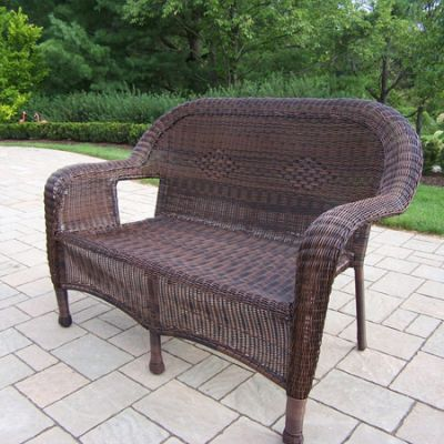 Resin Wicker Loveseat - 90027-L-CF