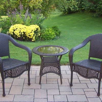 Elite Resin Wicker 3 Piece Patio Set - 90048-3-CF
