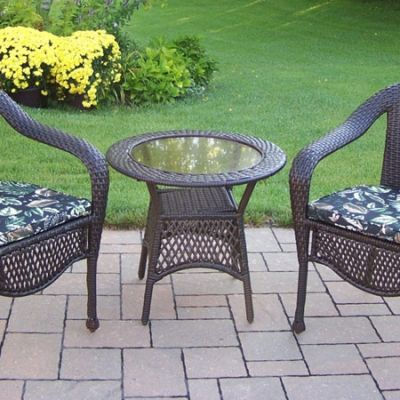 Elite Resin Wicker 3 Piece Patio Set - 90048-5-CF-CUBF