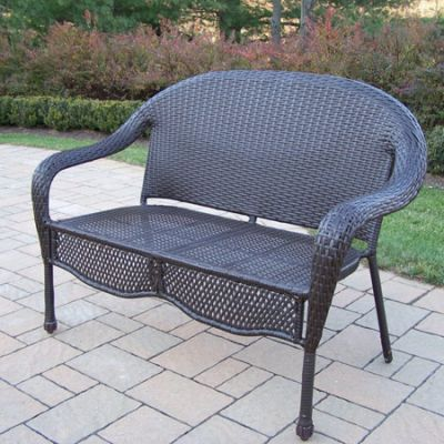 Elite Resin Wicker Loveseat - 90092-L-CF