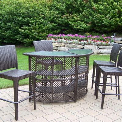 Elite Resin Wicker Bar Set - 90096-90054-5-CF