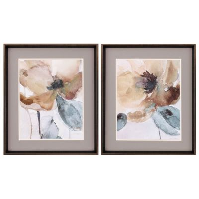 Watercolor Poppy Wall Art (Set Of 2) - 9104