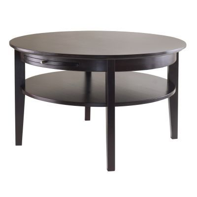 Amelia Coffee Table with Pull out Tray in Dark Espresso - 92232