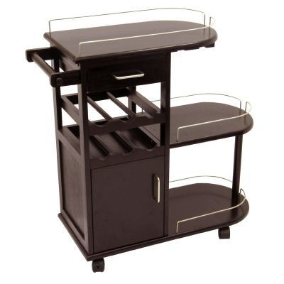 Jimmy Entertainment Cart in Espresso Beechwood - 92235