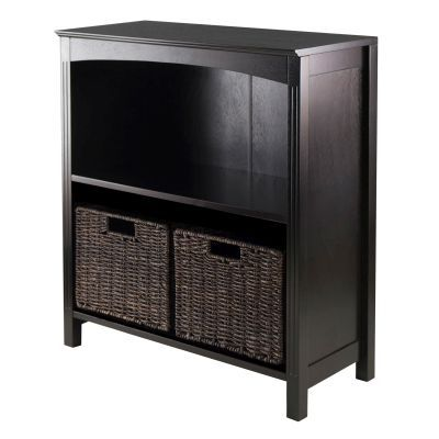 Terrace 3-Tier Shelf with Small Baskets in Dark Espresso - 92378