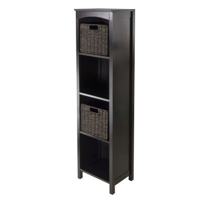 Terrace 3 Piece Storage 5 Tier Shelf in Dark Espresso - 92381