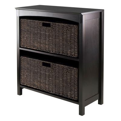Terrace 3 Piece Storage 3 Tier Shelf in Dark Espresso - 92382