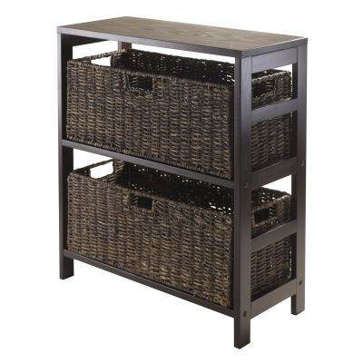 Granville 3 Piece Storage Shelf with 2 Large Baskets - 92383