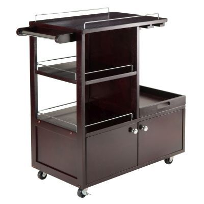 Galen Serving Cart in Espresso - 92430