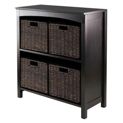 Terrace 5 Piece Storage 3 Tier Shelf in Dark Espresso - 92527