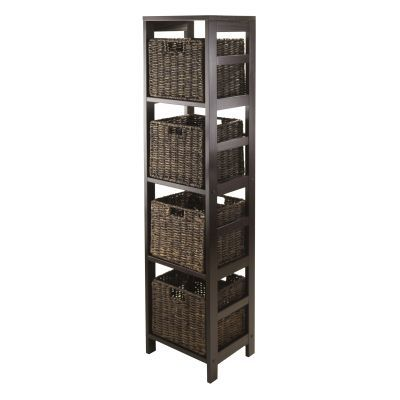 Granville 5 Piece Storage Tower Shelf with 4 Baskets - 92541