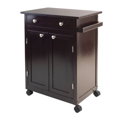 Savannah Kitchen Cart in Espresso - 92626