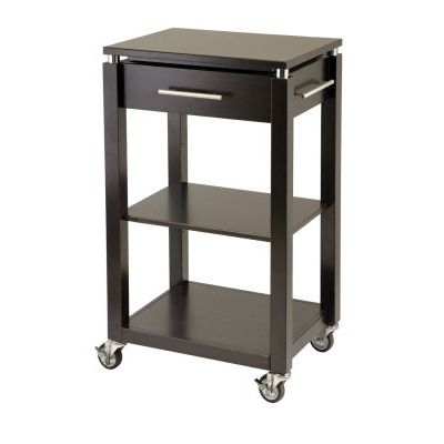 Linea Kitchen Cart with Chrome Accent - 92718