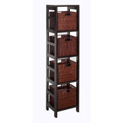 Leo 5 Piece Set Shelving Unit in Espresso - 92814