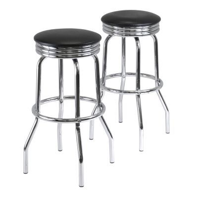 Summit 29.13' Swivel Stools with Faux Leather - 93028