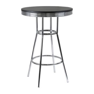 Summit 30' Round Pub Table in Black/Metal Finish - 93030