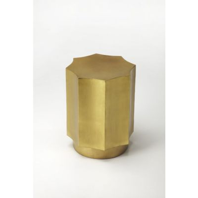 Daud Gold Side Table - 9313025