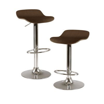 Kallie Air Lift Adjustable Stool in Cappuccino - 93489
