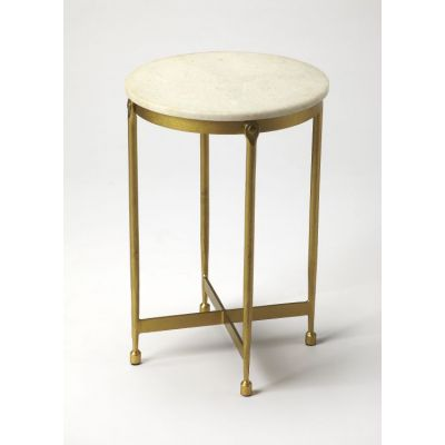 Claypool White Marble End Table - 9351025