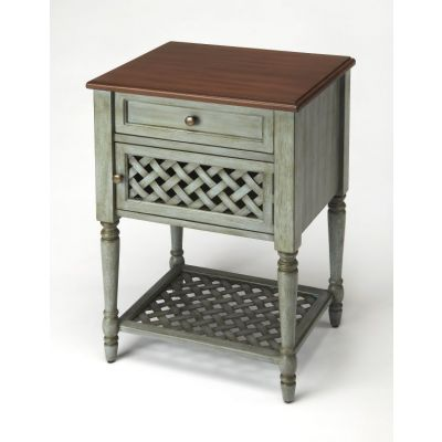 Chadway Rustic Blue End Table - 9368286