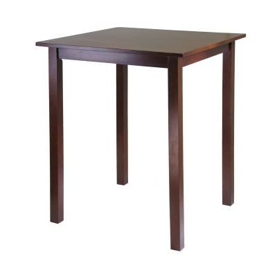 Parkland High/Pub Square Table in Antique Walnut Finish - 94134