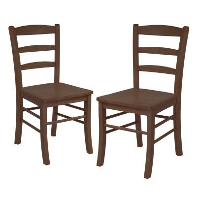 Benjamin 2 Piece Ladder Back Chair Set in Antique Walnut - 94232
