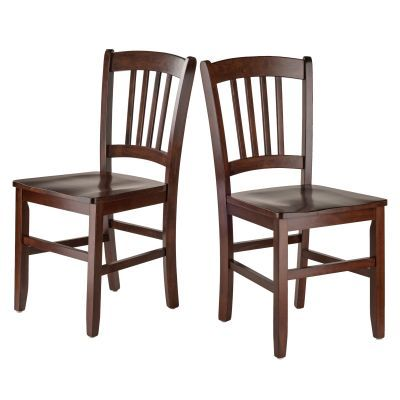 Madison Slat Back Chair Set in Walnut - 94245
