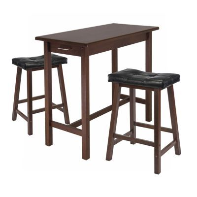 Sally 3 Piece Breakfast Table Set with 2 Cushion Seat Stools - 94304