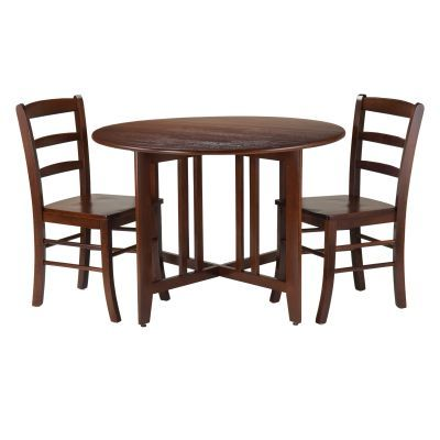 Alamo 3 Piece Round Drop Leaf Table with 2 Chairs - 94305
