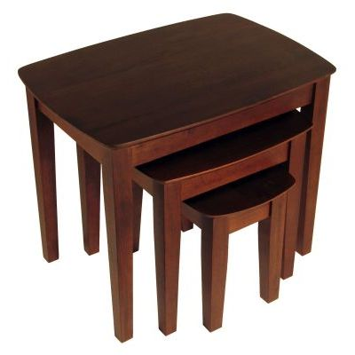 Bradley Solid Wood 3 Piece Nesting/End Tables - 94327