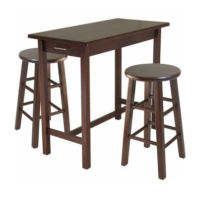 Sally 3 Piece Breakfast Table Set with 2 Square Leg Stools - 94342