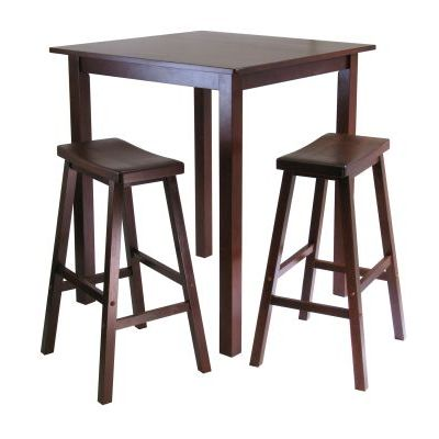 Parkland 3 Piece Square Pub Table Set - 94349