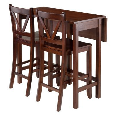 Lynnwood 3 Piece Table with 2 Counter V-Back Stools - 94355