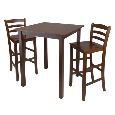 Parkland 3 Piece High Table with 29' Ladder Back Stool - 94359