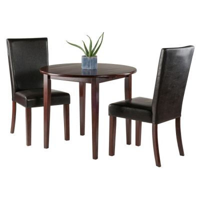Clayton 3-piece Set Drop Leaf Table with 2 Chairs in Walnut - 94373