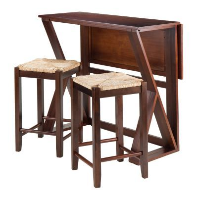 Harrington 3 Piece High Table with two 24' Rush Seat Stools - 94376